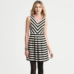Banana Republic Black And White Striped Dress